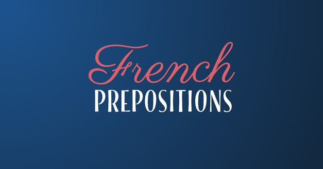 French prepositions