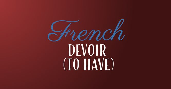 French verb devoir